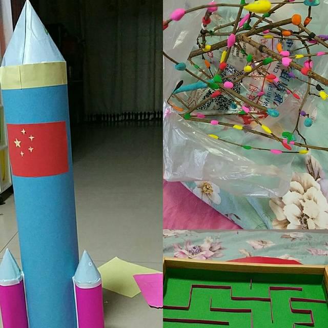 幼儿园的手工作品__宝宝树