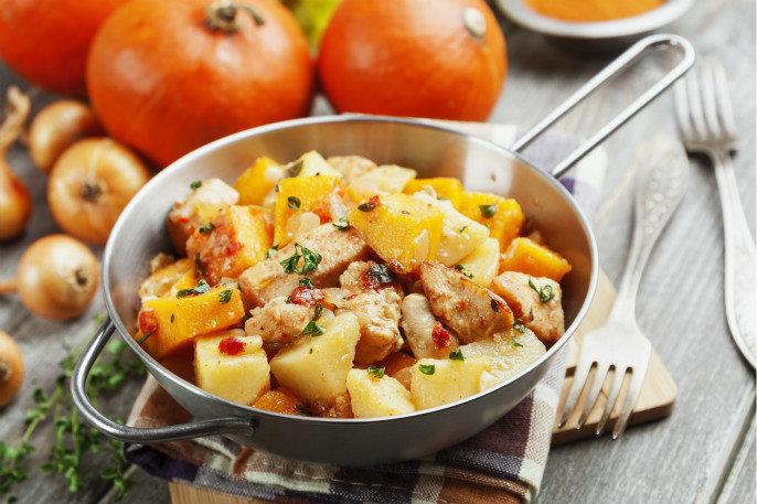 土豆南瓜炖鸡肉